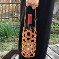 ワインボトルケース キャメル(ZAIYA)