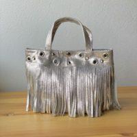 メタリックフリンジハンドバッグ